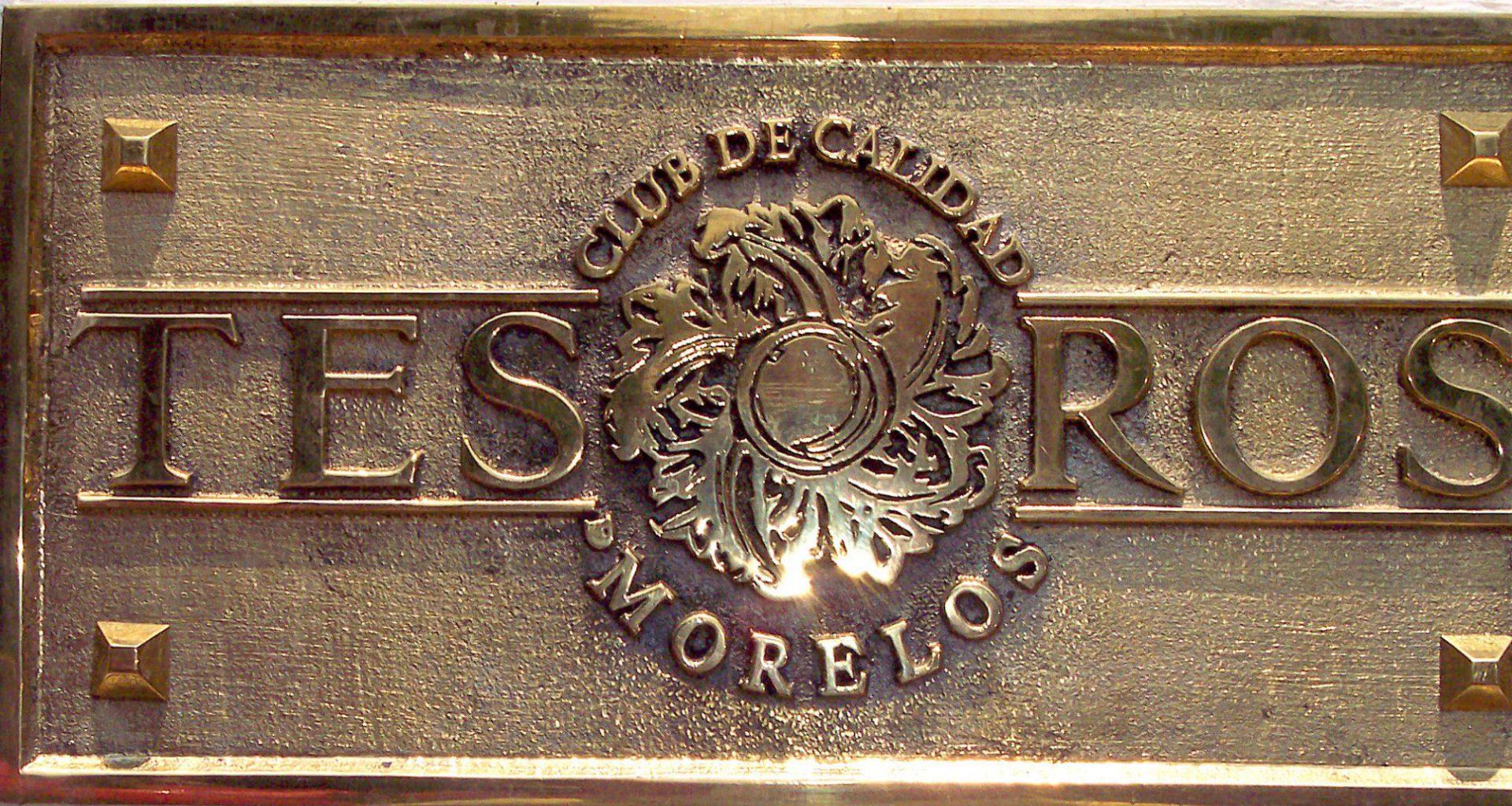 Placa Tesoros de Morelos