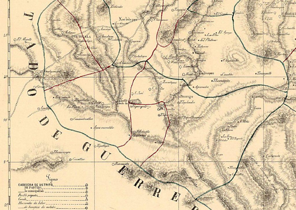 Mapa Tequesquitengo siglo XIX