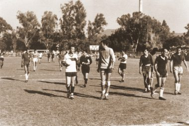 Horacio Casarin cuando iba a Zacatepec a jugar cascaritas de futbol con los trabajadores del ingenio